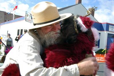 Hugs as bribes work well too