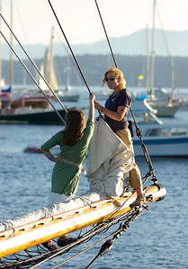 On board the Adventuress, Wooden Boat Festival 2009