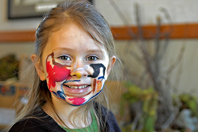 Face painting at the 2006 Childrens Art Festival, Fort Worden.