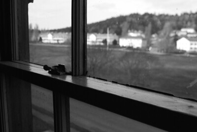 A window with an old view. Commanding Officers Quarters, Fort Worden.