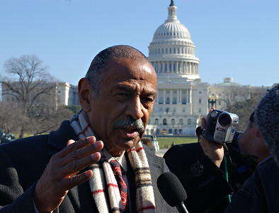 Rep. John Conyers being interviewed  Washington DC  2007